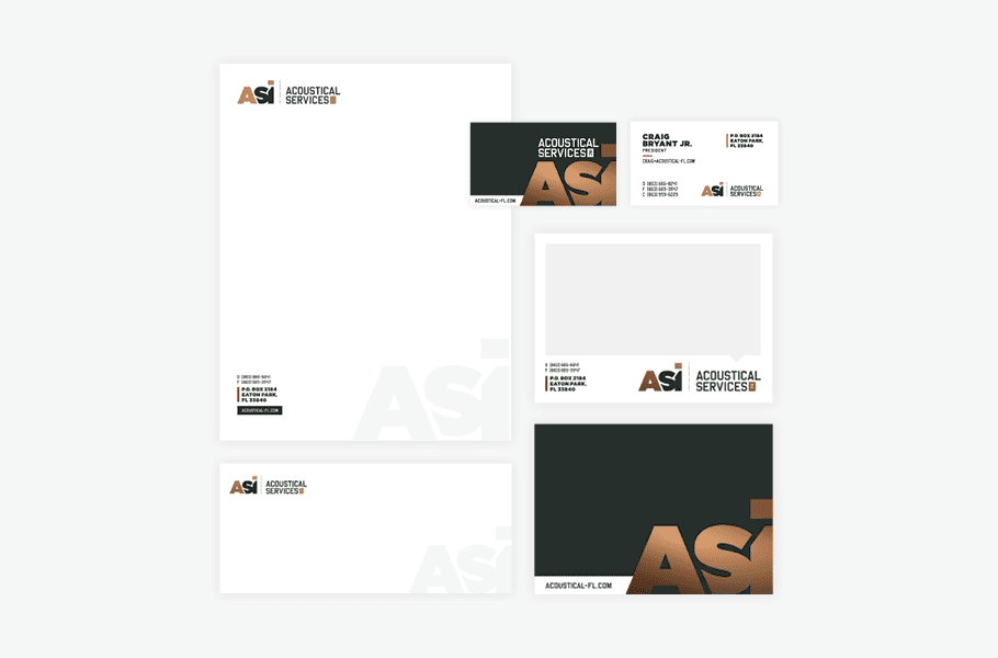 Business Card Design, Corporate Rebrand Nashville Stationery