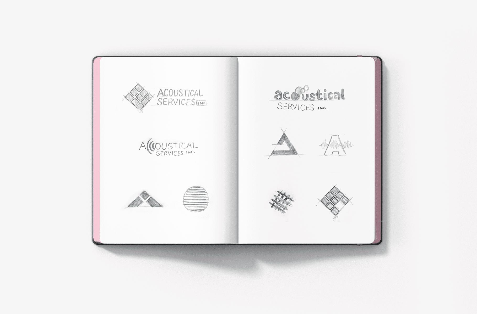 Logo Design Concept, Logo Sketches, Acoustical Services Logo